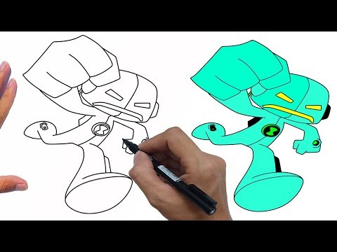 How To Draw Echo Echo From Ben 10 Universe easy step by step | Jelly Colors Art
