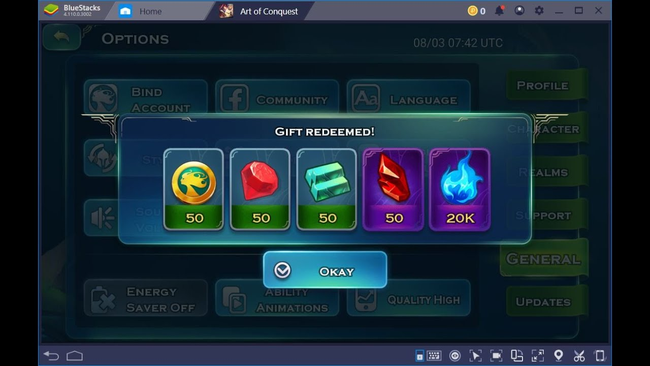 Art of Conquest Game redeem code 03/07/2020 - YouTube