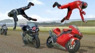 MotoGp 2 - race and stunt mode gameplay