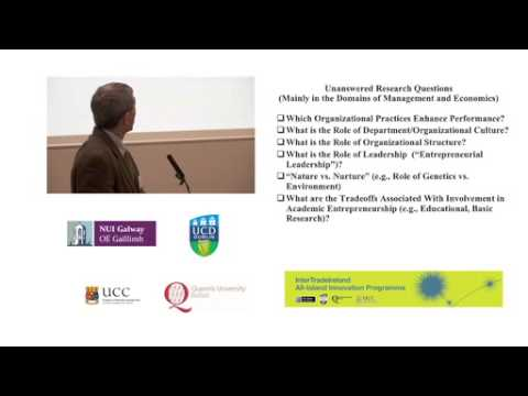 Prof Donald Siegel gives the keynote address at the IntertradeIreland Annual Conference 2012, part 2