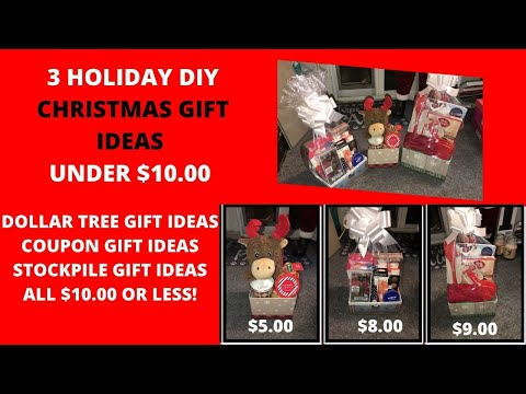 3 CHRISTMAS GIFT IDEAS ALL UNDER $10|DOLLAR TREE GIFT IDEA COUPON GIFT IDEAS $10 OR LESS|EASY GIFTS