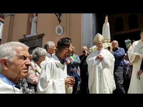 Frattamaggiore...Commiato Effige Madonna di Fatima dalla Basilica Pontificia San Sossio