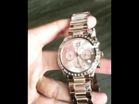 f14b3c168b1 Relógio Michael Kors rose cravejado funciona AAA+ perfeito 1 linha réplica  premiun atacado varejo