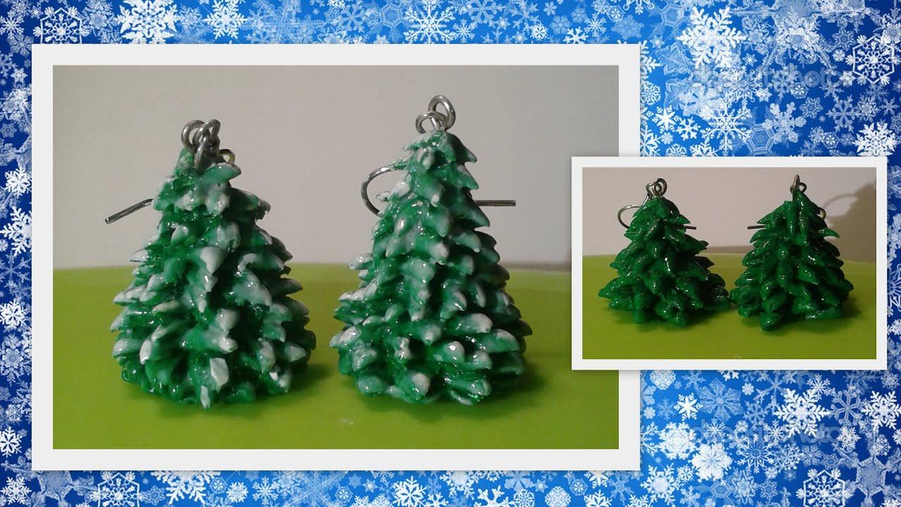 Clay Christmas Tree Earrings Crafting Tutorial By HoneyBeads1  - Make Christmas Tree Earrings