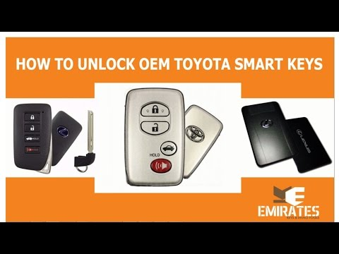 HOW TO UNLOCK OEM TOYOTA SMART KEYS VIA MK3