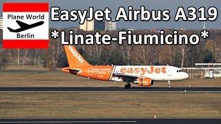EasyJet Airbus A319 *Linate-Fiumicino* landing in Berlin TXL