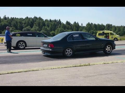 Dodge Magnum 400ci stroker vs BMW 540i E39 4 4K 1/4mile drag race