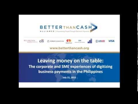 Webinar: Leaving Money on the Table - Digitizing Business Payments in the Philippines
