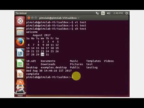 LINUX SCRIPTING IN VI EDITOR AND HOW TO RUN IT