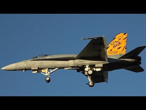 Awesome arrival by RAAF F/A 18 Hornets at...