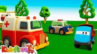 Leo the truck & Ambulance. Kids cartoon.