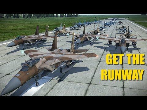 Mass 25 Plane Reaper Flight Bombs Hostile Runway To Save The World! | DCS