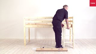 flexa classic mid high bed slanting ladder assembly instruction