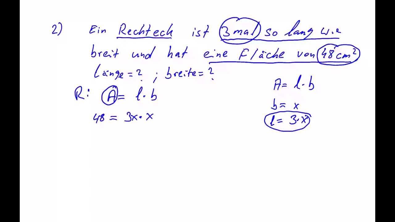 Gleichungen aus Textaufgaben aufstellen und lösen - YouTube