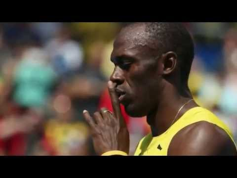 2016 Rio Olympics Usain Bolt 200m Bolt wins his heat 20:28 seconds Images Only