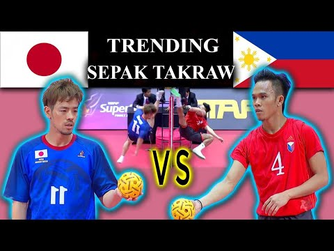 Sepak Takraw - Philippines Vs Japan ! Full Game HD