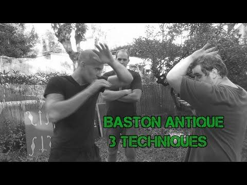 3 techniques de baston antique