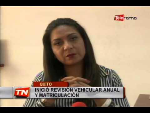 Inició revisión vehicular anual y matriculación