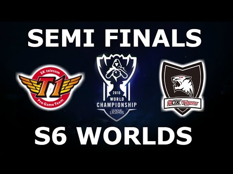 SKT vs ROX - Semi Finals S6 LoL eSports World Championship 2