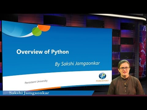 Smart India Hackathon's Massive Online Training Sessions - Overview of Python
