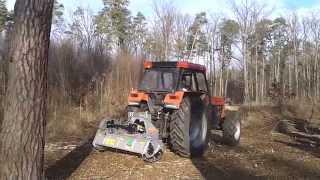 mulczer FAE FML/ST na ciągniku URSUS o mocy 120 KM _4z4