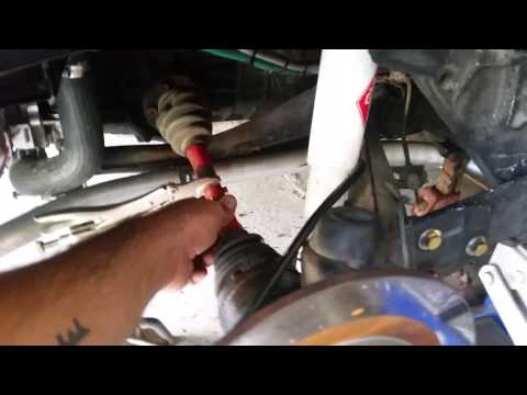 Volkswagen Beetle drive shaft removal
