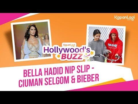 Bella Hadid Nip Slip - Selena Gomez Cium Bieber