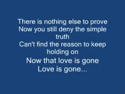 David Guetta - Love Is Gone - With Lyrics