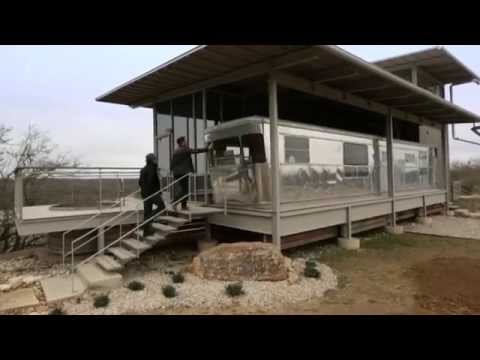 george clarkes amazing spaces locomotive ranch trailer home - YouTube
