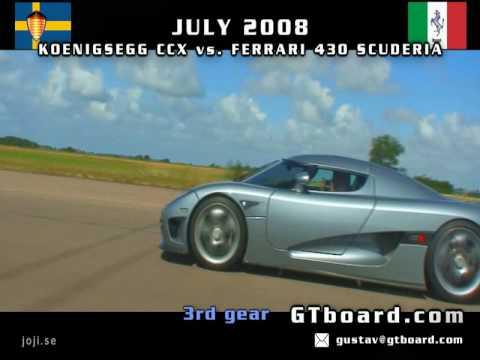HD: Koenigsegg CCX vs Ferrari 430 Scuderia 50-300 km/h now in High Definition