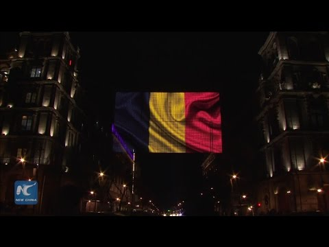 Mexico City drapes itself in Belgian colors in show of solidarity