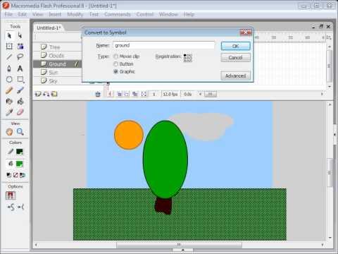 Basic Flash Animation Tutorial  Sunrise 1  2  YouTube