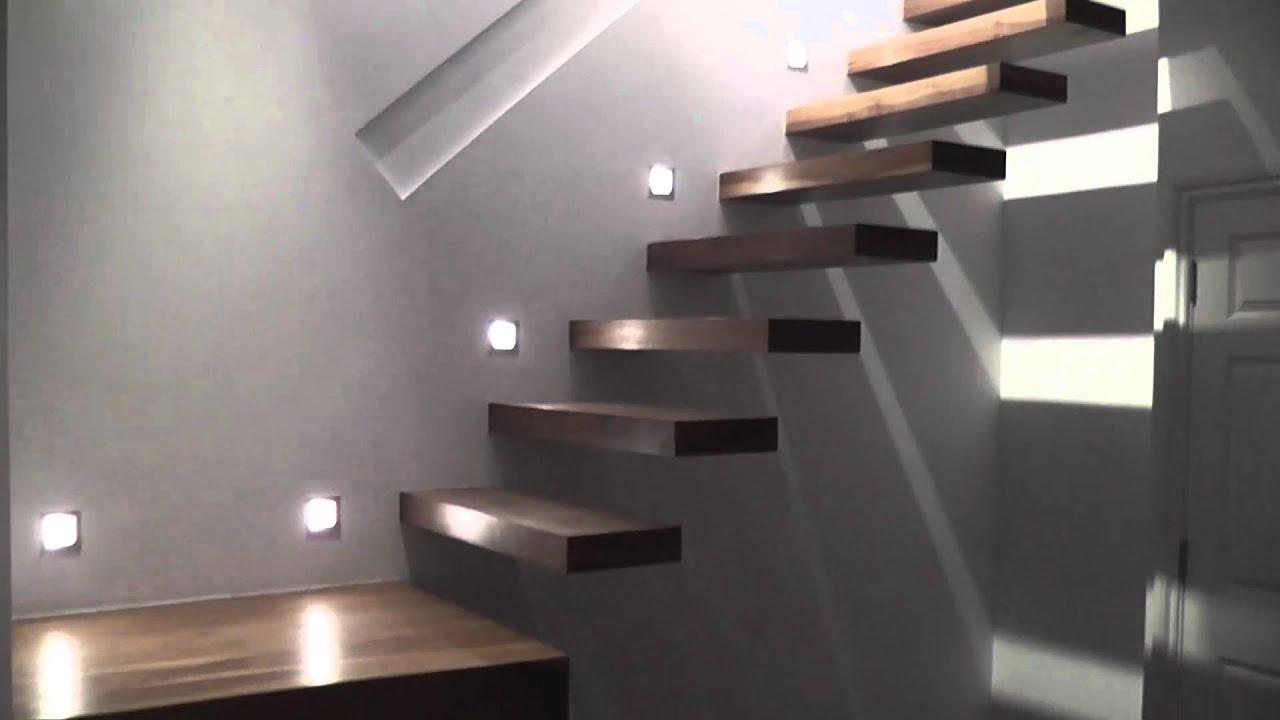 Advantage basements hanging tread staircase youtube for Advantage basements