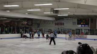 The Janesville Jets Hockey Fight Against The Coulee Region Chill.