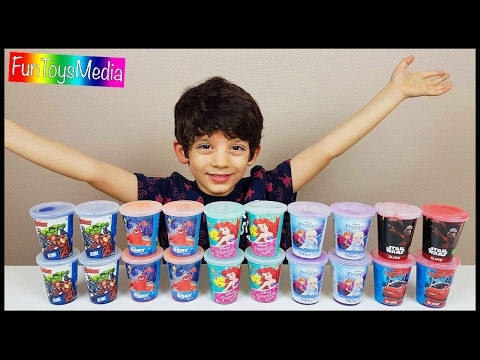 Learn Colors with Disney Slime for Kids and Preschool Children