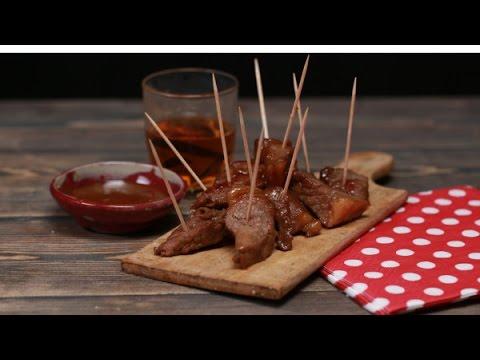 How to make honey and bourbon steak bites, bourbon marinade for steak tips, recipes with bourbon