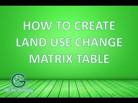 How to Create Land Use Change Matrix Table   Membuat Matriks Perubahan Penggunaan Lahan