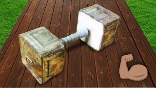 how to make a big dumbbell in low cost