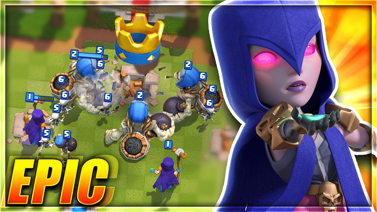 Download NOOBS vs GIANT SKELETON! HILARIOUS THREE CROWNS in Clash Royale!