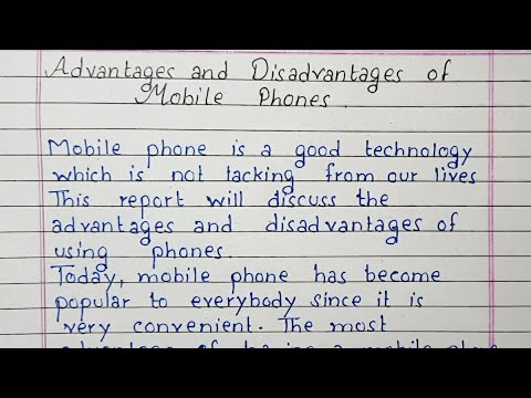 advantages and disadvantages of mobile phone essay