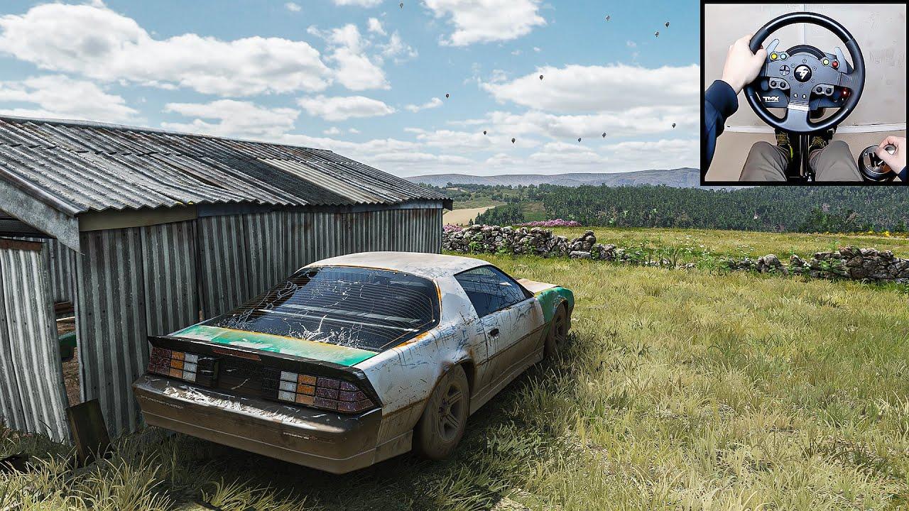 Download Forza Horizon 4   Rebuilding Chevrolet Camaro IROC-Z   Steering Wheel + Shifter   GamePlay