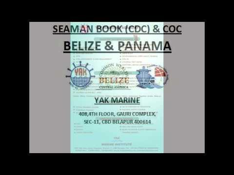 Belize Seaman Book / Belize CDC. (Ordinary Seaman, Able Seaman, Wiper, Fitter,