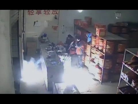Download Drunk Arsonist Arrested for Exploding Firework Store in Northwest China