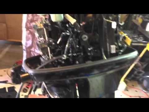 mercury 150 hp XR6 , 2004 - YouTube