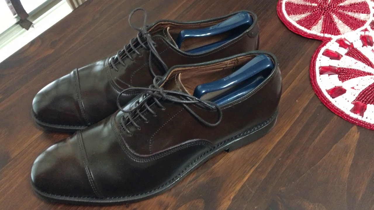 e33dcda80233 Allen Edmonds Park Avenues in Brown Shell Cordovan. - YouTube