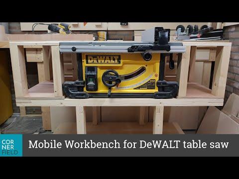 Mobile Workbench Dewalt 7491 Table Saw
