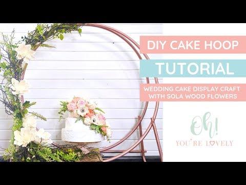 Hoop Cake Stand- DIY Tutorial