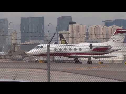 Gulfstream IV Takeoff at McCarran Airport (KLAS)