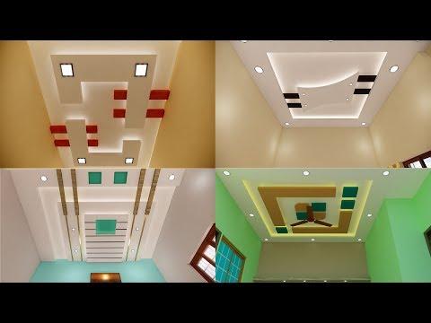 Designer gypsum false ceiling for hall and bedroom - Simple ceiling design for bedroom