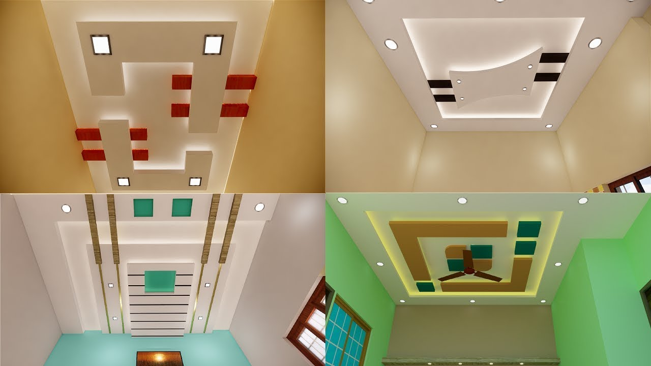 Designer Gypsum False Ceiling For Hall And Bedroom Simple